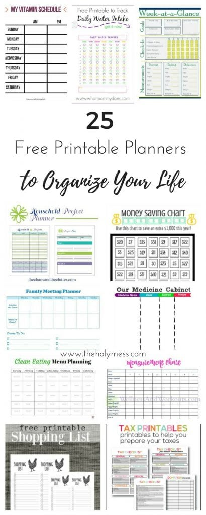 picture about Printable Planners named 25 Cost-free Printable Planners in the direction of Arrange Your Everyday living