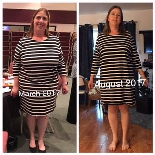Julie - before and after keto