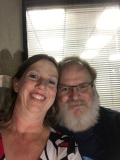 Julie and her husband after keto