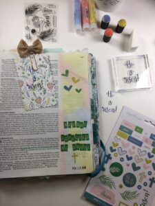 Bible Journaling Creative Retreat March Faith Box