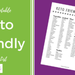 Free Printble Keto Friendly Food List