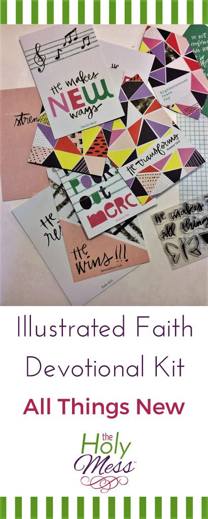 Bible Journaling Illustrated Faith All Things New Devotional Kit