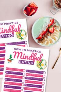 mindful eating printable
