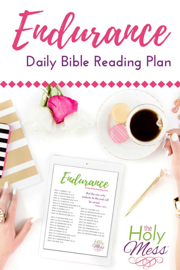 Endurance 31 Day Bible Reading Plan