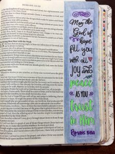 Bible Journaling with Printables and white sticker paper
