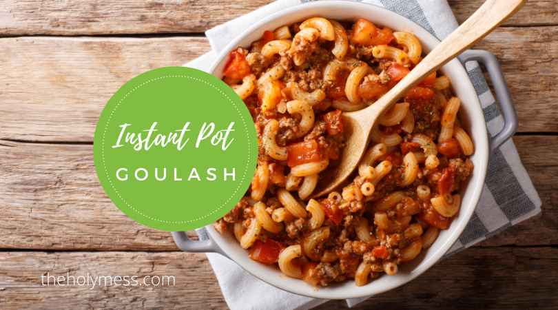 Instant Pot Goulash Recipe