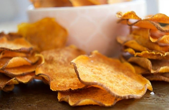 WW Baked sweet potato chips