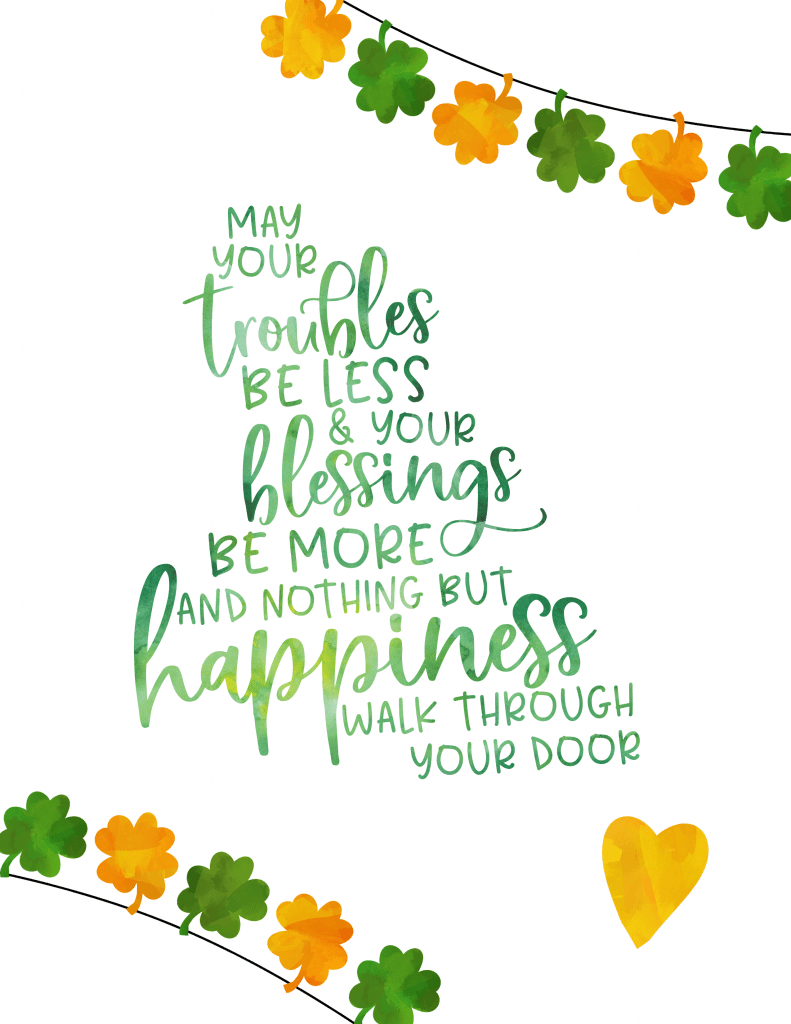 Traditional Irish Blessing printable