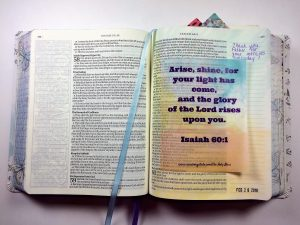 Bible Journaling with Printable and Tracing Paper
