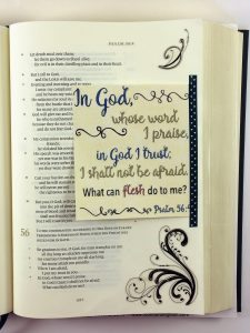 Bible Journaling with Printable and Cardstock