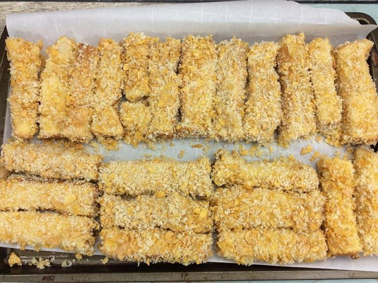 French Toast sticks ready to bake