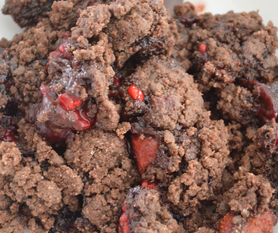 Chocolate Covered Strawberry WW Cobbler