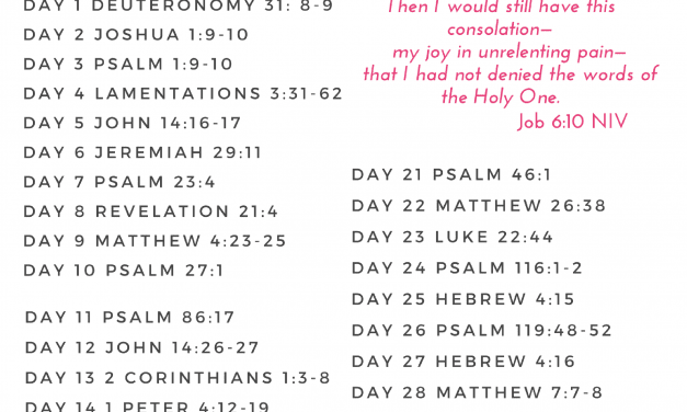 31 Days of Hope During Pain Bible Reading Plan