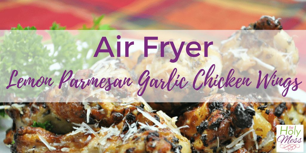 Air Fryer Lemon Parmesan Garlic Chicken Wings Recipe
