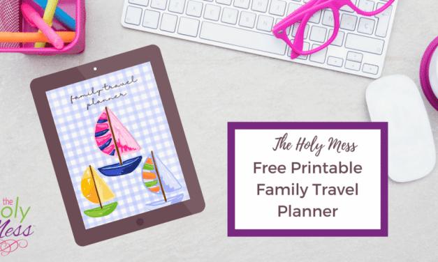 Family Travel Planner Free Printable