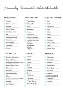 Free Printable Family Travel Planner