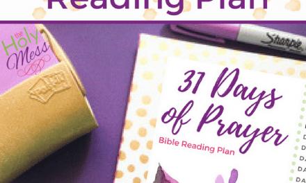 31 Days of Prayer Bible Reading Plan