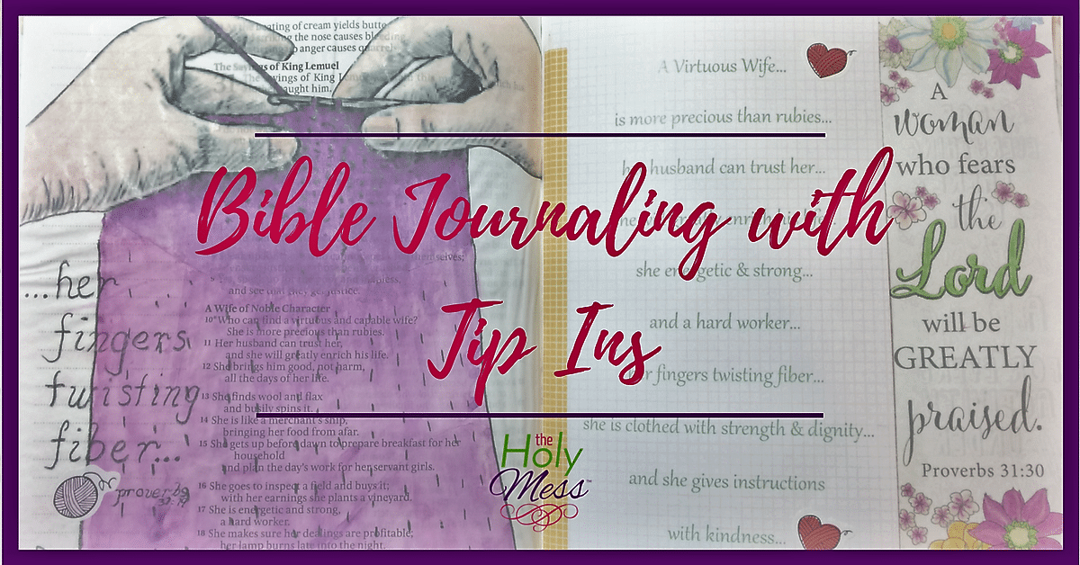 Bible Journaling with Tip-Ins