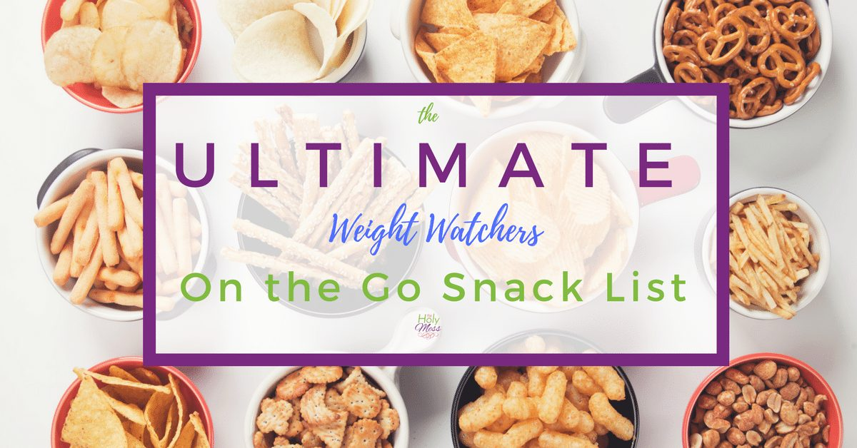 The Ultimate Weight Watchers on the go Snack List