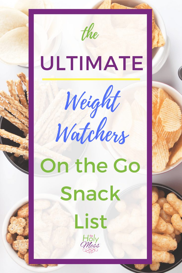 The Ultimate Weight Watchers On the Go Snack List #weightwatchers #diet #weightloss #fitness