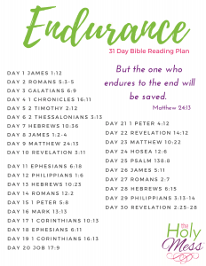 Endurance Bible Reading Plan