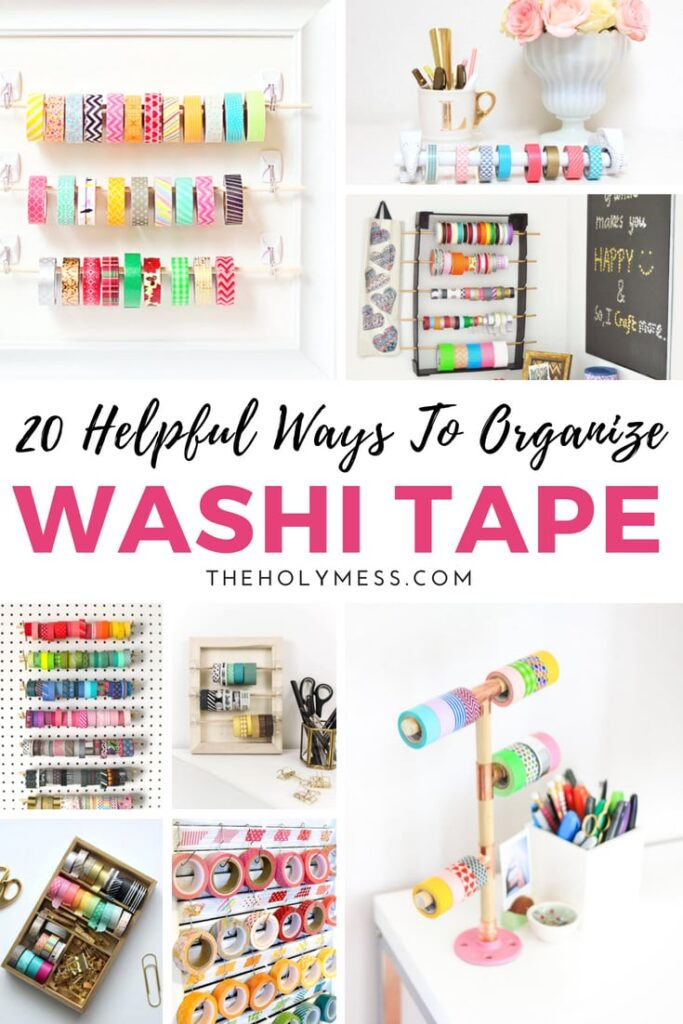 20 Helpful Ways to Organize Washi Tape