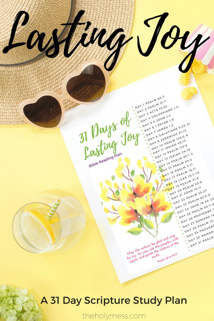 31 Days of Lasting Joy Bible Reading Plan