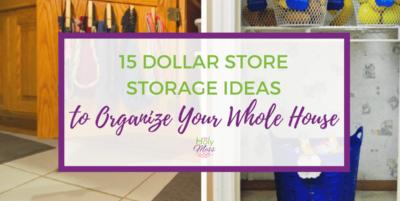 15 Dollar Store Storage Ideas to Organize Your Whole House