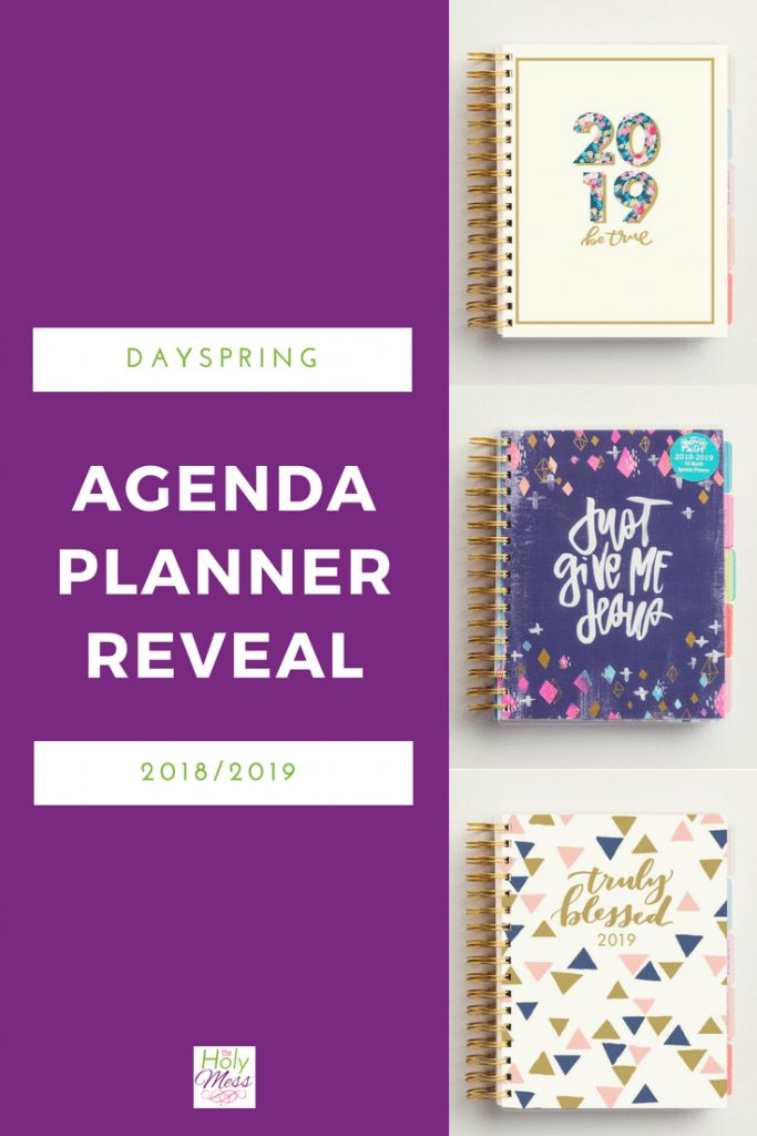 DaySpring Agenda Planner Reveal 2018 and 2019