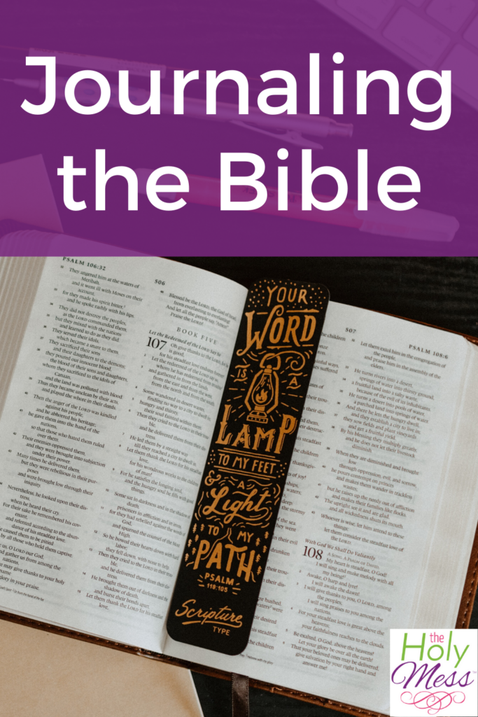 how to bible journal, bible journal example