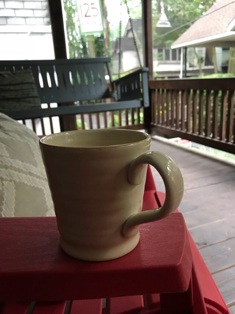 Relaxing on the porch at Mt. Gretna.