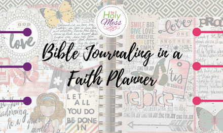 Bible Journaling in a Faith Planner