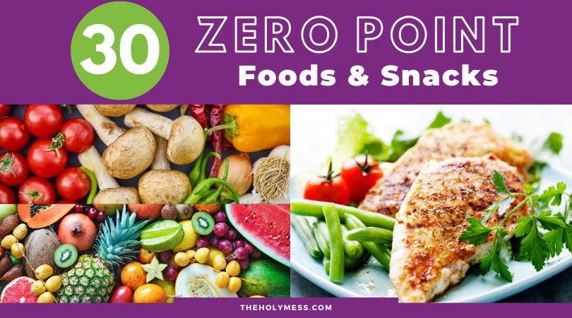 30 Weight Watchers Zero Point Food