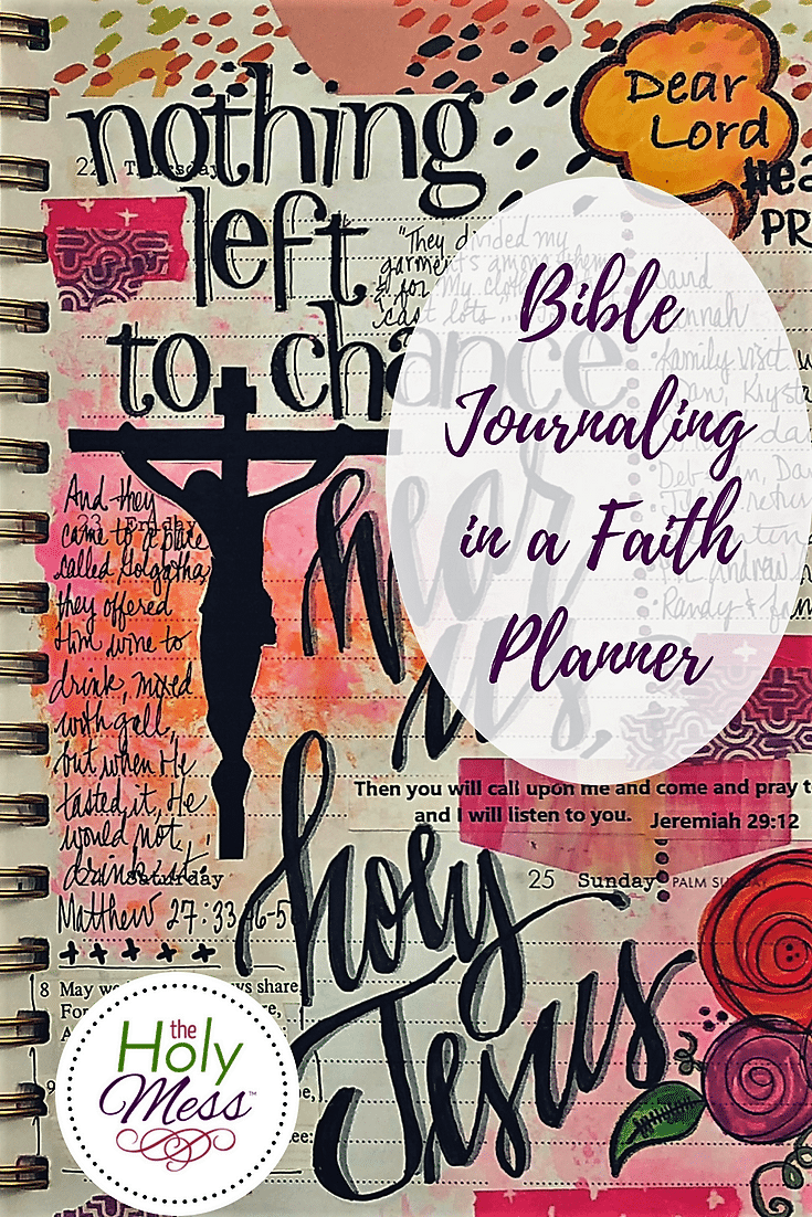 Bible Journaling in a Faith Planner Pinterest