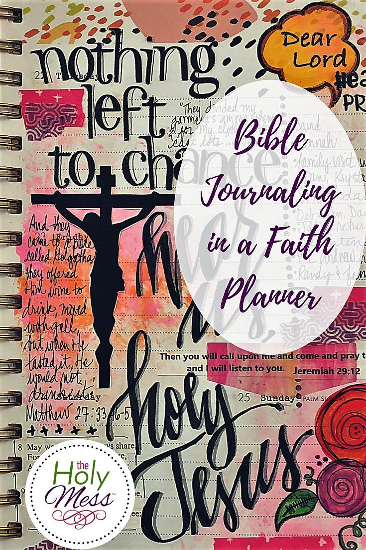 Bible Journaling in a Faith Planner Pinterest