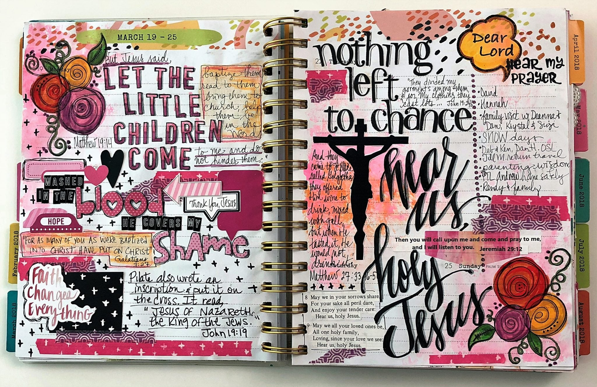 Bible Journaling in a Faith Planner The Holy Mess