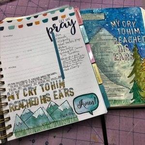Bible journaling in a Faith Planner with Karen Hunter