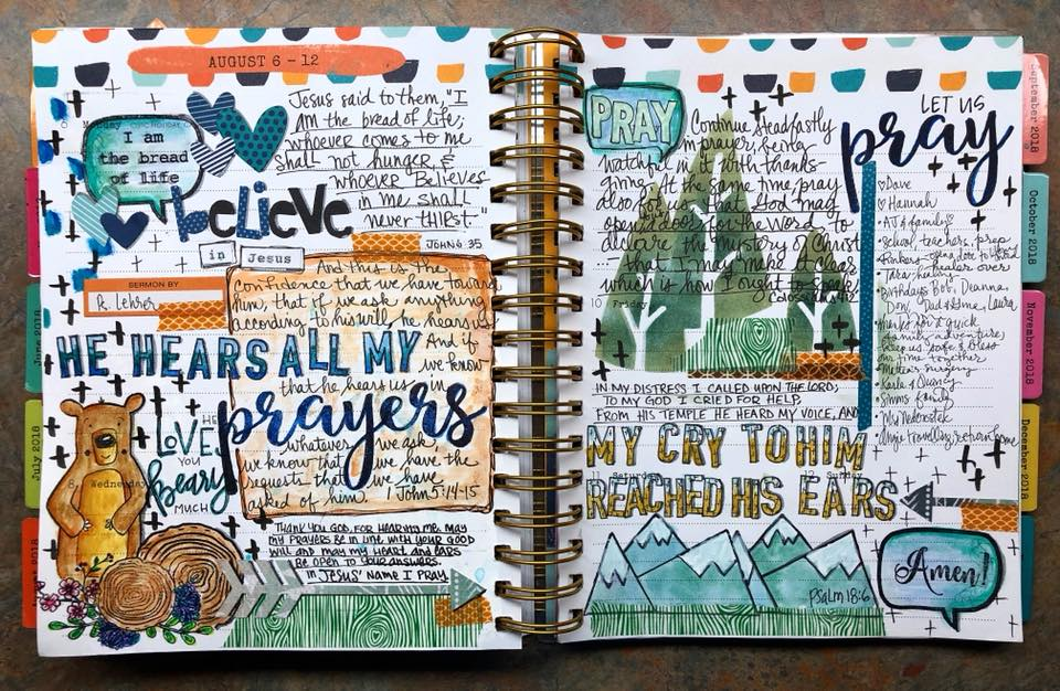 Bible journaling in a Faith Planner with Karen Hunter