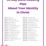30 Day Identity in Christ Bible Reading Plan