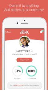 StickK app for weight loss