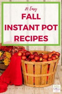 20 Easy Fall Instant Pot recipes #instantpot #dinnerrecipe