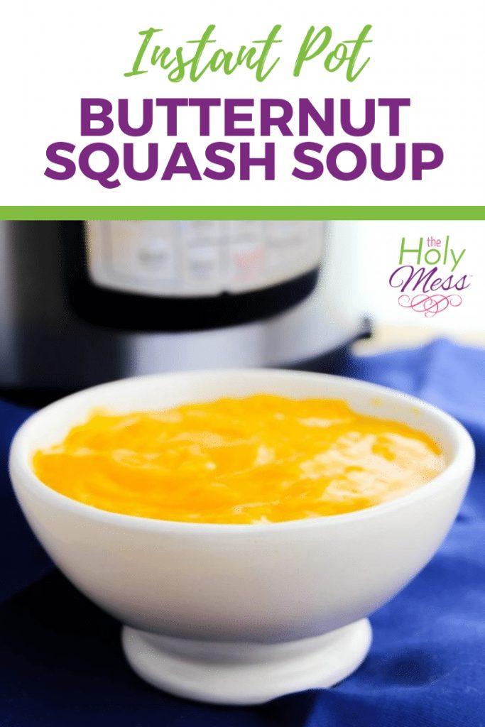 Instant Pot Butternut Squash Soup Recipe #soup #instantpot #dinnerrecipe