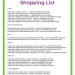 Trader Joe's Weight Watchers Shopping List