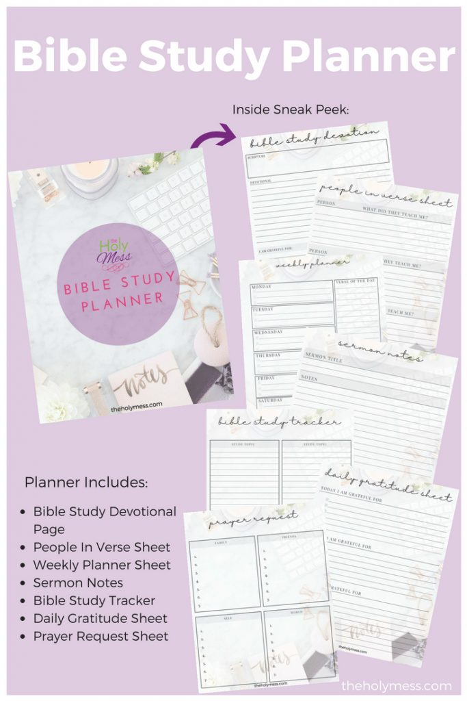 The Holy Mess Bible Study Planner #bible #faith #planner #printable