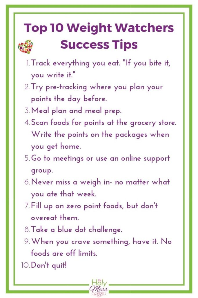 Top 10 Weight Watchers Success Tips