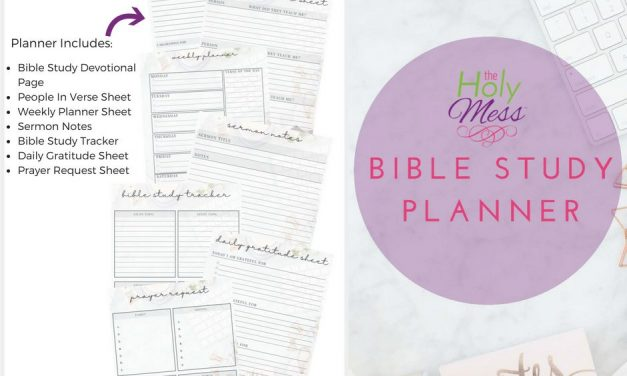 The Holy Mess Bible Study Planner