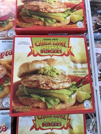 Trader Joe's Chili Lime Chicken Burgers - frozen