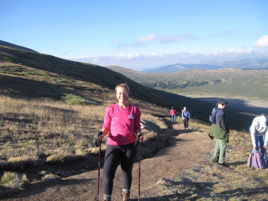 """""""After"""" weight loss photo - climbing a 14er in Colorado"""