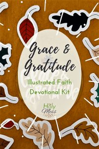 Illustrated Faith Grace & Gratitude Devotional Kit