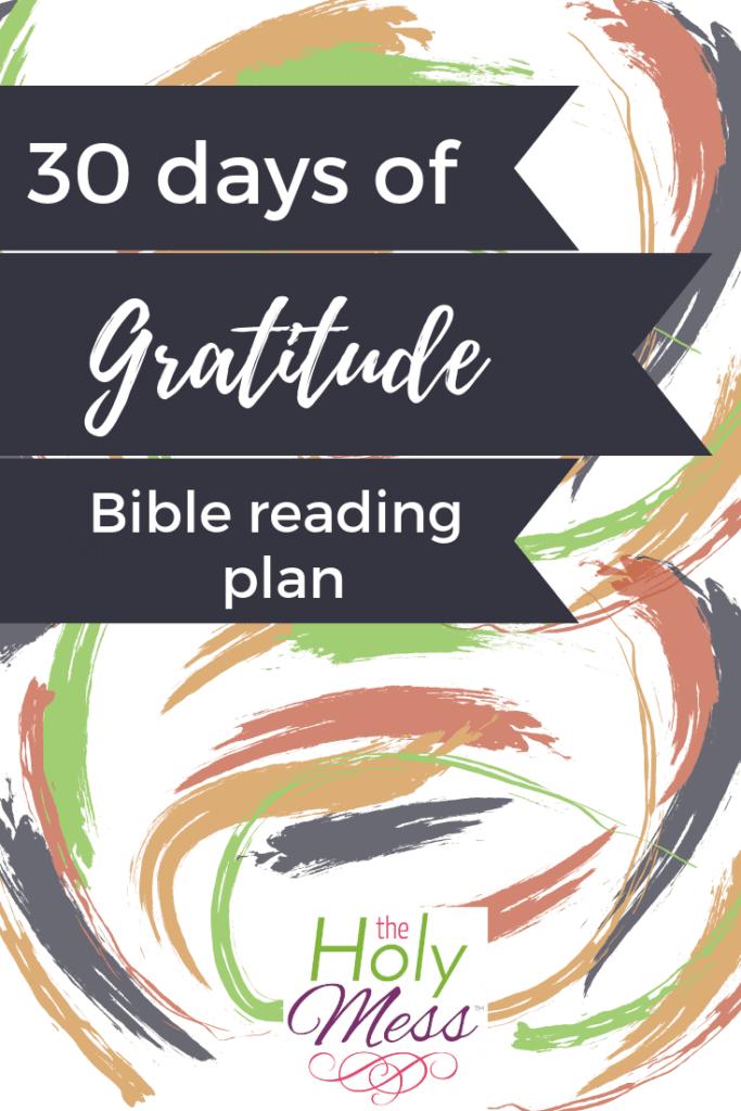 30 Days of Gratitude Daily Bible Reading Plan #bible #reading #free #printable